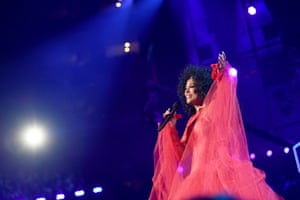 Diana Ross performs onstage