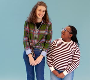 Students Clementine Reed (on left) and Mercy Oweyo
