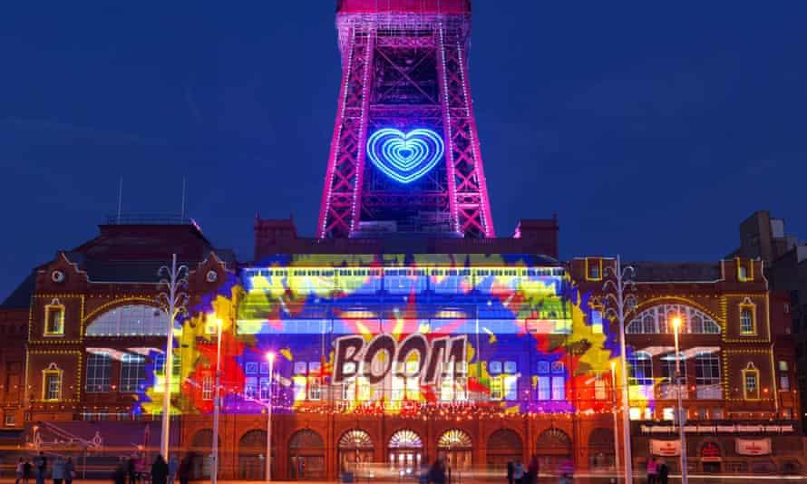 Part of the LightPool Festival at Blackpool Illuminations.