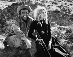Connery as Moses Zebulon 'Shalako' Carlin and Brigitte Bardot as Countess Irina Lazaar in the British western Shalako, directed by Edward Dmytryk, 1968.