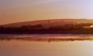 Day breaks over the Lune Estuary, Lancaster