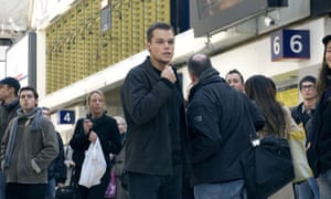 Bourne's vain attempt to stop a Guardian journalist from being shot in the head during a set piece from The Bourne Ultimatum.