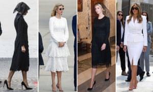 It's black and white … Melania and Ivanka Trump.