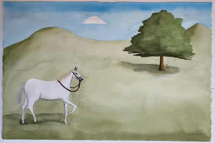 Noel McKenna's water colour painting of a horse