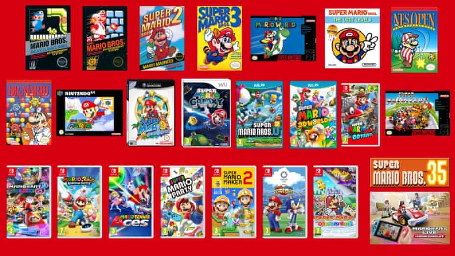Mario over the ages.