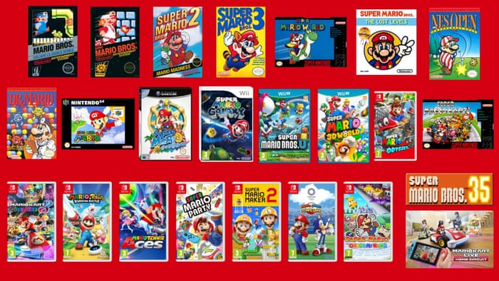 Nintendo Announces New Games For Mario S 35th Anniversary Games The Guardian