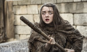 "This image released by HBO shows Maisie Williams as Arya Stark in a scene from, ""Game of Thrones,"" premiering its sixth season on Sunday at 9 p.m. (Macall B. Polay/HBO via AP)"