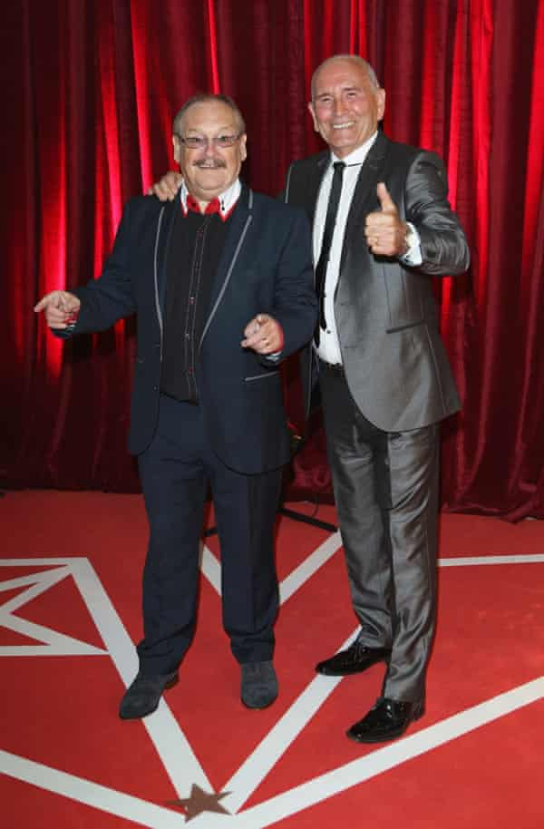 Bobby Ball and Tommy Cannon at the British Soap awards in 2013.
