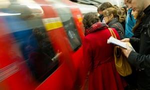 London tube platform.