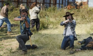 Father and son: Rick and Carl take aim