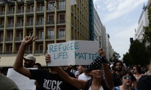Protest organised by anti-racist-anti-fascist movements for the rights and freedoms of refugees took place in Athens, Greece on 20 June, 2020 to mark World Refugee Day.