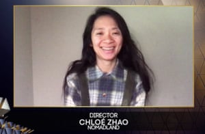 Chloé Zhao wins best director for Nomadland.