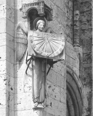 One of the sun dials on Strasbourg Cathedral