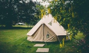 Tent in the glamping arc at Ballyvolane, Ireland