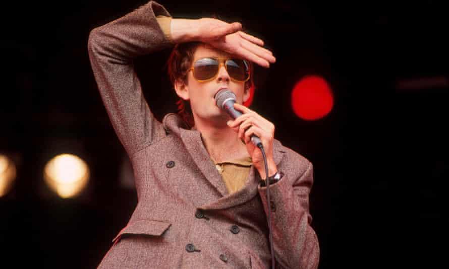 Jarvis Cocker at Glastonbury Festival in 1994.