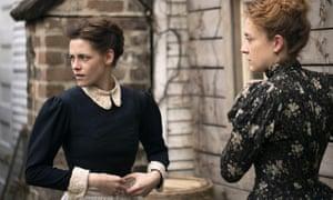 Intense friends … Kristen Stewart, left, and Chloë Sevigny in Lizzie.