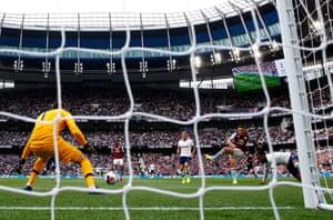 John McGinn of Aston Villa fires in the opening goal.