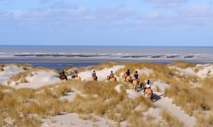 Horse riding in the Baie de Somme.