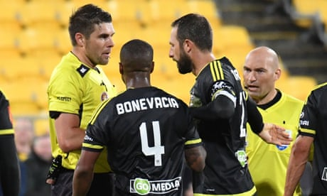 Video assistant referee awards controversial penalty in A-League game – video
