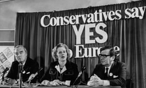 Margaret Thatcher was on the Yes side in 1975