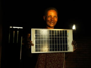 Dines Msampha, single mother and solar engineer Malawi