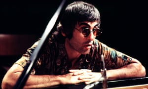 Paul Bley leaning on piano