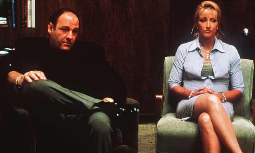 Family business ... James Gandolfini and Edie Falco.