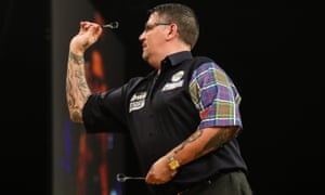 Gary Anderson blames his rival Wesley Harms for farting during their darts match.