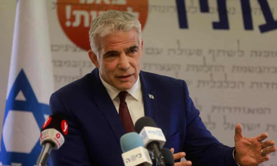 Leader of the Israeli Yesh Atid party Yair Lapid