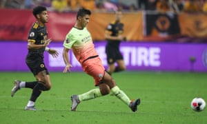 Rodri in action during the Asia Trophy final between Manchester City and Wolves.