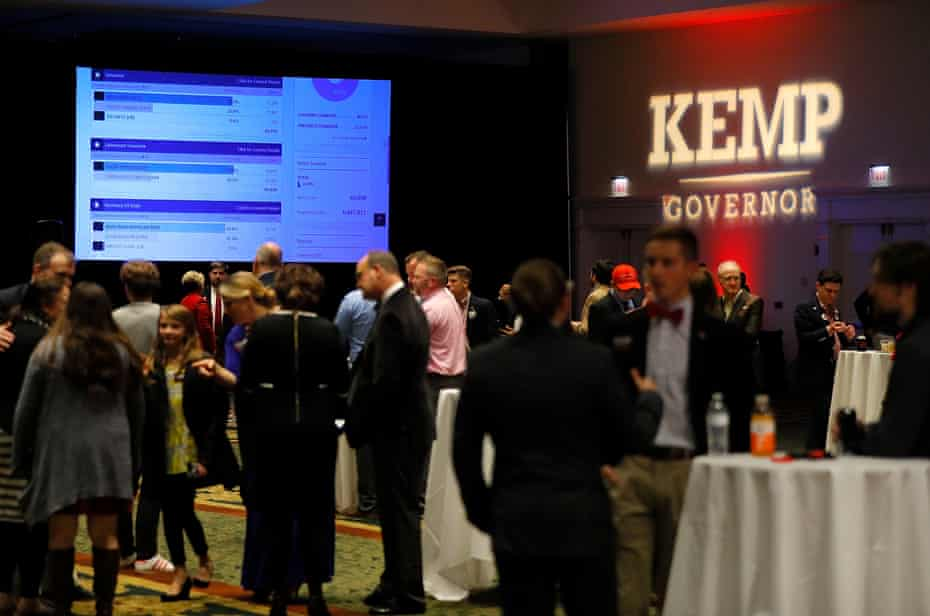 A view of the Election Night event for Brian Kemp at the Classic Center on November 6, 2018 in Athens, Georgia.
