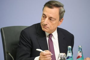 Mario Draghi, the President of the European Central Bank, today.