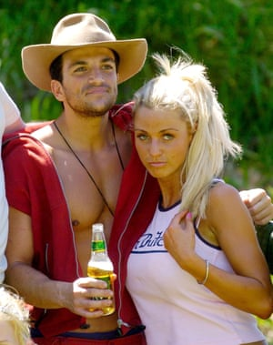 Peter Andre and Katie Price on I'm a Celebrity in 2004