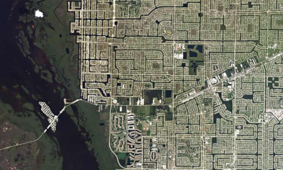 Cape Coral, Florida, home to more canals than any other city in the world.