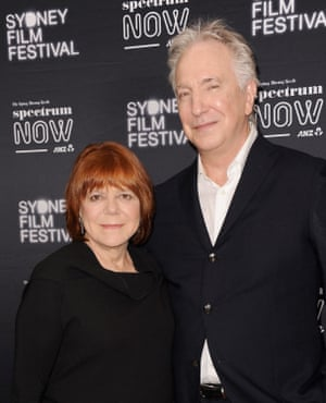 Alan Rickman with his partner Rima Horton at the Australian premiere of A Little Chaos in 2015