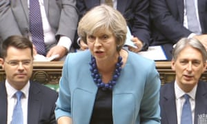 UK prime minister Theresa May in Parliament this week