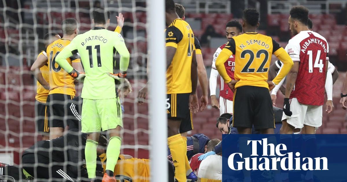 Raúl Jiménez head injury overshadows Wolves impressive win at Arsenal