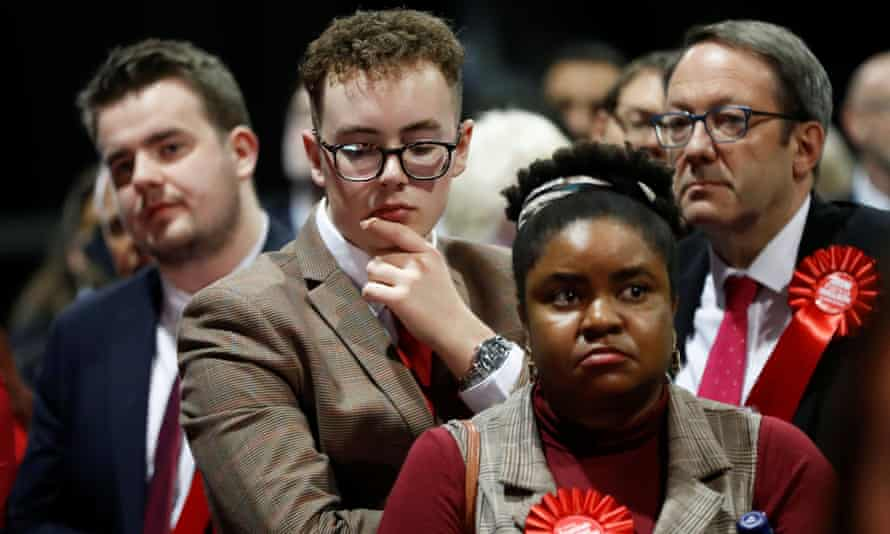 Labour supporters at a counting centre in Glasgow.