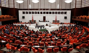 Turkish politicians debate reforming the consitution in parliament earlier this week.