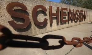 The dock where the 1985 European Schengen Agreement was signed, Schengen, Luxembourg.