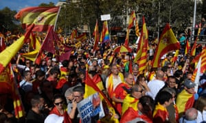 A demonstration against Catalonia's independence in Barcelona.