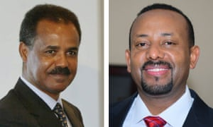 Eritrea's Isaias Afwerki and Ethiopia's Abiy Ahmed