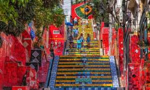 Escadaria Selaron in Rio de Janeiro, Brazil.