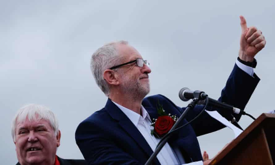 Dave Hopper and Jeremy Corbyn at last year's gala.