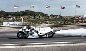 Force of Nature,' a steam-powered rocket motorbike.