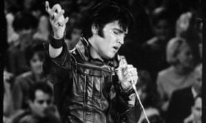 'Swagger': Elvis on stage at the 1968 show.