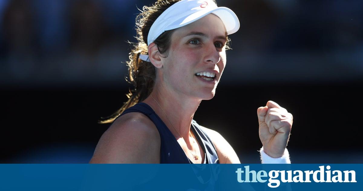 Australian Open: Johanna Konta powers through against Caroline Wozniacki