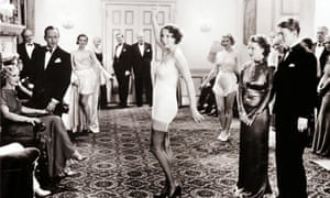 Underwear typified the 'tubular' shape some dressmakers strived for in the 1920s. A show in a private home, 1925.