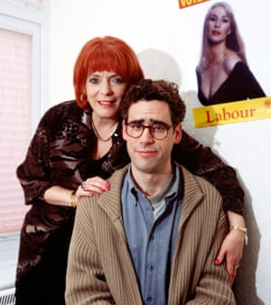 Trouble with the turkey … Alison Steadman as Pauline Mole with Stephen Mangan as Adrian.