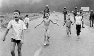 Nick Ut's 'Napalm Girl' photograph, which altered the course of the Vietnam war. Ho Thi Hien was the girl on the right.